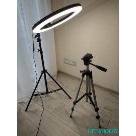 Лампа кольцевая 45 см HQ-18 PRO + держатель смартфона + сумка + штатив 2.2 м.