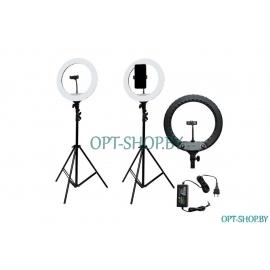 Кольцевая лампа YQ-360A Д-36 см на штативе 2,2 метра + держатель телефона