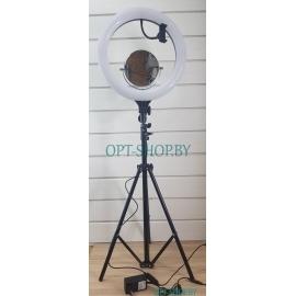 Лампа кольцевая LS-16-11 -- 38 см + ЗЕРКАЛО +ЧЕХОЛ+БЛОК ПИТАНИЯ