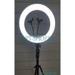 Кольцевая лампа RL-14 36см +пульт +штатив 2,2м+разные режимы освещения