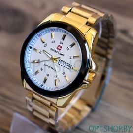 Мужские часы Swiss_@nmy с календарем на браслете