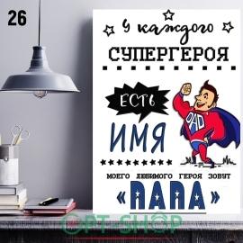 Постер на холсте 40х50 №26